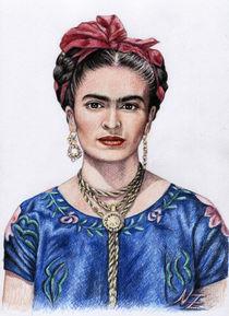 Hommage to Frida Kahlo von Nicole Zeug