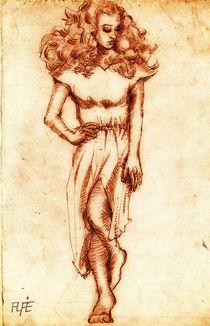 Study of girl von Alfredo  Saavedra