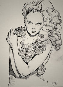 La Rose - The Rose Sketch von Alfredo  Saavedra