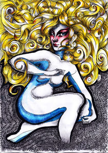 Demon Girl Blonde von Alfredo  Saavedra