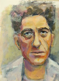 Portrait Painting Alberto Giacometti by alfons niex