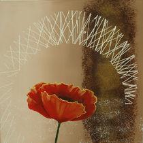 Senkrechte Triptychon Mohnblumen II by Lidija Kämpf