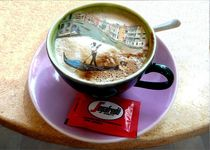 ein Cappuccino in Venedig by Christine  Hofmann