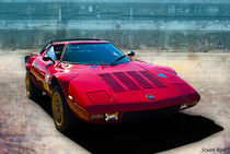Red Lancia Stratos von Stuart Row