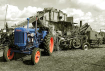 Old Fordson and the Threshing Machine  by Rob Hawkins