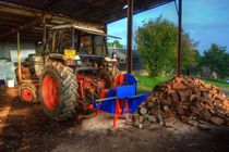 Tractor and the Logs  von Rob Hawkins