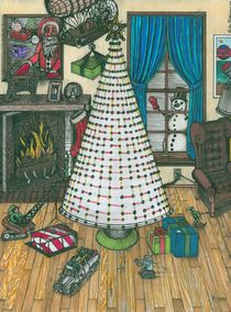 Christmas Card Drawing von Richie Montgomery