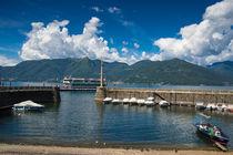 Hafen Porto Vecchio Luino Lago Maggiore Italien von Matthias Hauser