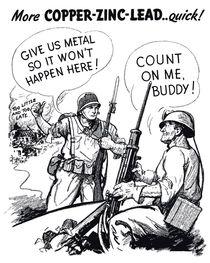 Give Us Metal So It Won't Happen Here -- WWII by warishellstore