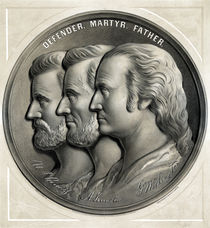 Defender, Martyr, Father -- Grant, Lincoln, And Washington by warishellstore
