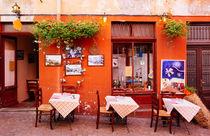 Nettes kleines Straßencafe in Luino Italien von Matthias Hauser