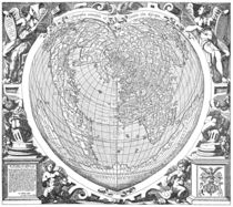 World Map 1566 by vintage