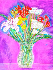 Neon Bouquet by Christine Chase Cooper