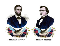 Abraham Lincoln And Andrew Johnson Campaign Poster von warishellstore