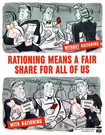Rationing Means A Fair Share For All Of Us -- WWII von warishellstore