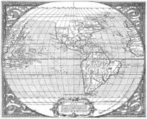 America Map 1587 by vintage