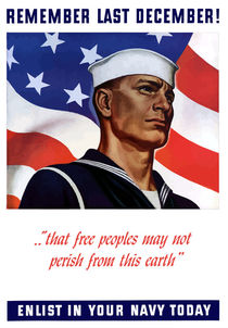 Enlist In Your Navy Today -- World War II von warishellstore