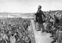 President Lincoln Delivering The Gettysburg Address von warishellstore
