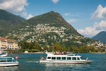 Lugano und Luganer See Tessin Schweiz von Matthias Hauser