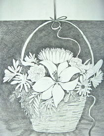 Basket of Flowers von Christine Chase Cooper