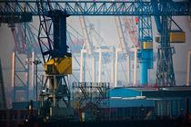 Hamburger Hafen - Kräne by Markus Keinath