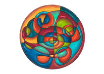 Inner Tubes Mandala Card by themandalalady