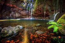 25 Fontes Waterfall in Rabacal by Zoltan Duray
