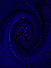 Vortex In Blue by David Pyatt