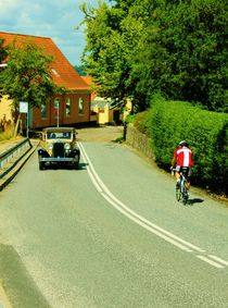 Oldtimer meets bicycle by Michael Beilicke
