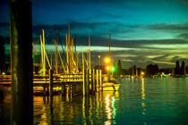 Nachts im Hafen von Bodman by Gina Koch