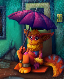 sitting in the rain by sushy