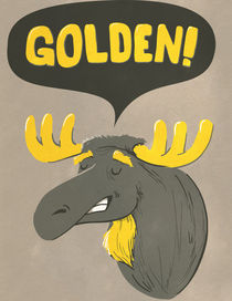 Golden Moose by Mikael Biström
