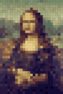 8-bit Mona Lisa von Magda Lates