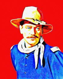John Wayne in Rio Grande von Art Cinema Gallery