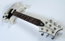 Santana's signed guitar by Philip Shone