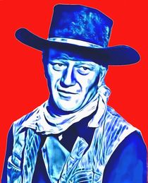 John Wayne in Red River von Art Cinema Gallery