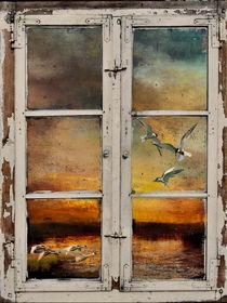 Fenster mit Aussicht von Marie Luise Strohmenger