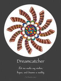 Dreamcatcher Mandala Poster - Full Color w/grey matt & Msg von themandalalady