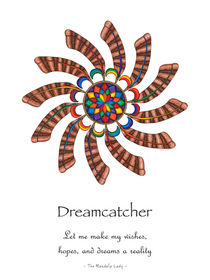 Dreamcatcher Mandala Poster - Full Color, w/Msg by themandalalady