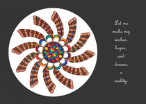 Dreamcatcher Mandala Card - Full Color, Grey Matte w/Msg von themandalalady