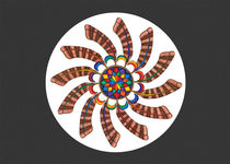 Dreamcatcher Mandala Card - Full Color, Grey Matte von themandalalady