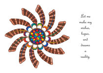 Dreamcatcher Mandala Card - Full Color w/Msg von themandalalady