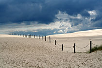 dark clouds & bright sand by steflei