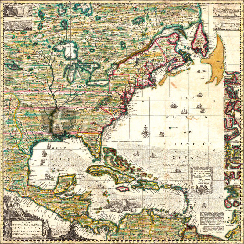 Map of the british empire in america 1773 graphicillustration art america map 1773 dot 7537x7537 freerunsca Image collections