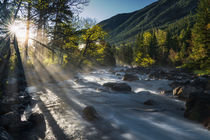 Mountain Creek Sunrise von Leland Howard