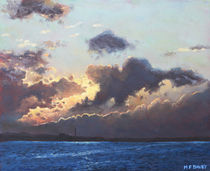 Sunset on the Solent by Martin  Davey