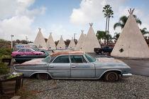Wigwam motel at Route 66. von morten larsen
