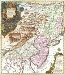 New England Ancient Map (1756) by vintage