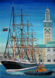 Ankunft der SEDOV in Casablanca von Matthias Wunsch