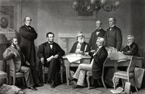 President Lincoln and His Cabinet von warishellstore